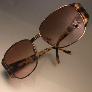 YVES SAINT LAURENT Vintage Tortoise & Gold Sunnies